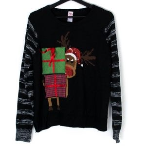 Holiday Time Sweater Christmas Reindeer XL AN